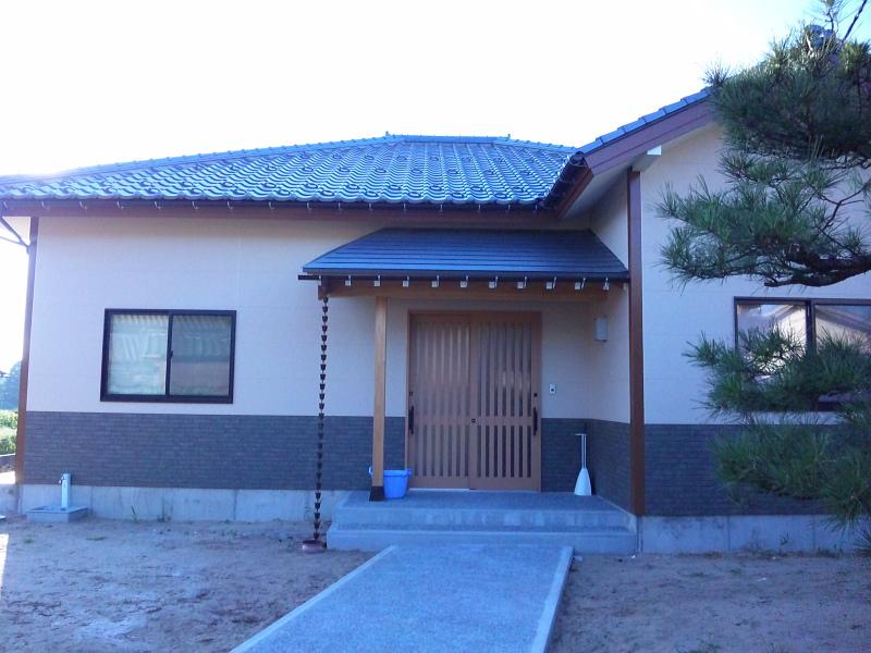 熟年の方の家が完成しました。