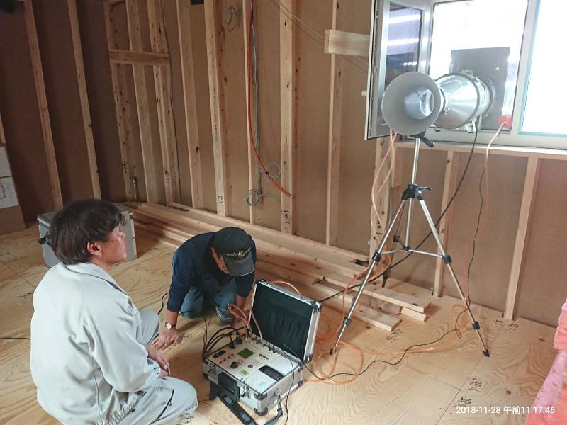 熊谷建設専務自邸モデルハウス(工事写真)